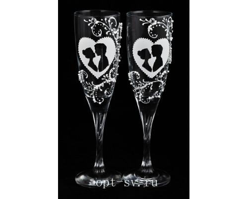 Свадебные бокалы (2 шт) В 32