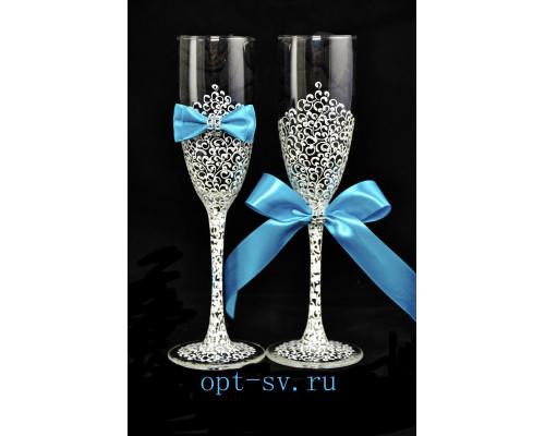 Свадебные бокалы (2 шт)  В 24