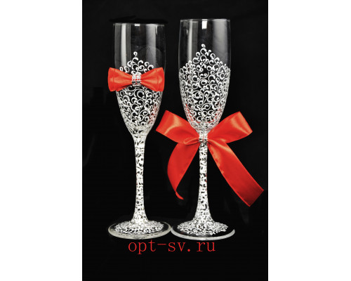 Свадебные бокалы (2 шт)  В 25
