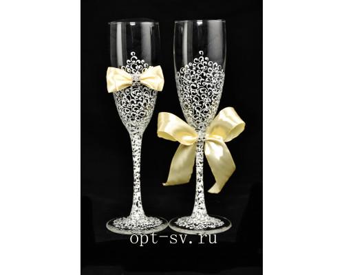 Свадебные бокалы (2 шт) В 26