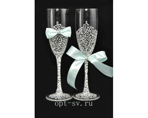 Свадебные бокалы (2 шт) В 38