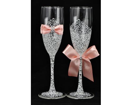 Свадебные бокалы (2 шт)  В 22