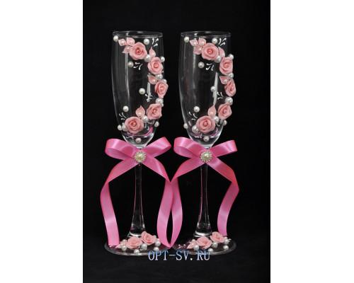 Свадебные бокалы (2 шт)  В 27