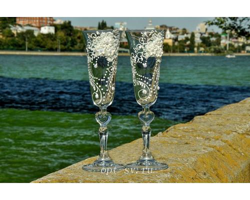 Свадебные бокалы (2 шт) В 80