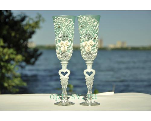 Свадебные бокалы (2 шт) В 101