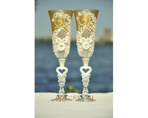 Свадебные бокалы (2 шт) В 102