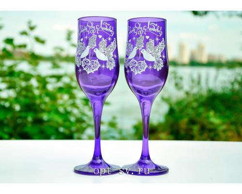 Свадебные бокалы (2 шт) В 155