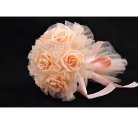 Букет дублер невесты в персиковом цвете