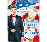 """Плакат """"Завидный жених"""" П-2"""