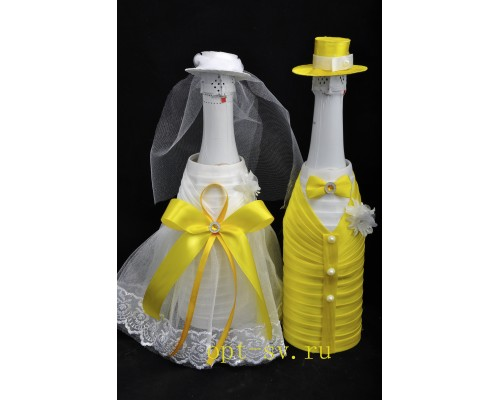 Украшение на свадебное шампанское К 18