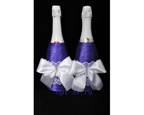 Украшение на свадебное шампанское К 21