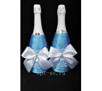 Украшение на свадебное шампанское К 22