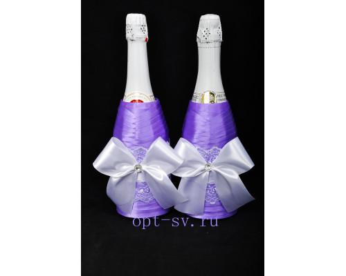 Украшение на свадебное шампанское К 23