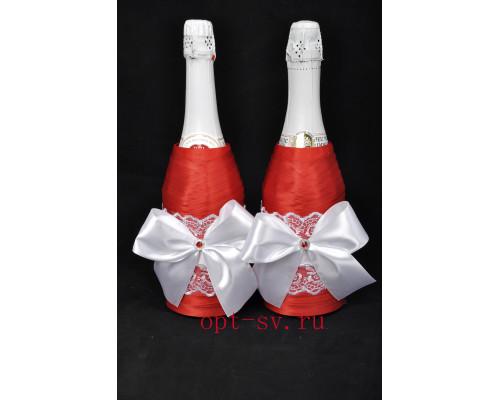 Украшение на свадебное шампанское К 24