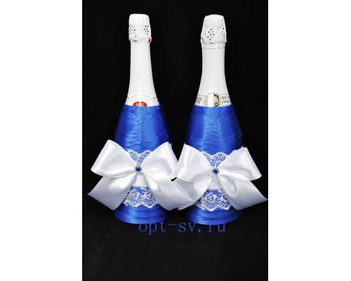 Украшение на свадебное шампанское К 25