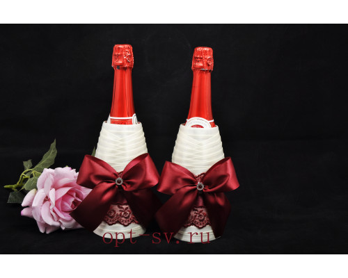 Украшение на свадебное шампанское К 26