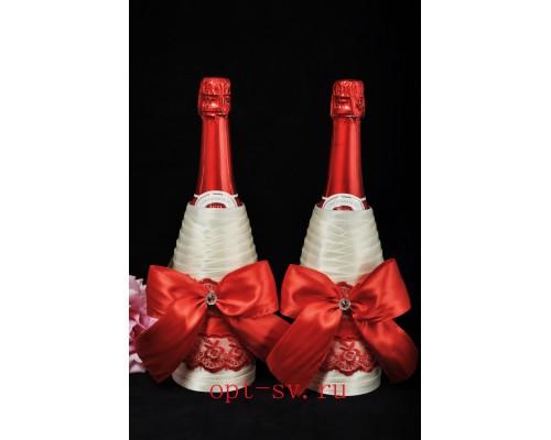 Украшение на свадебное шампанское К 28