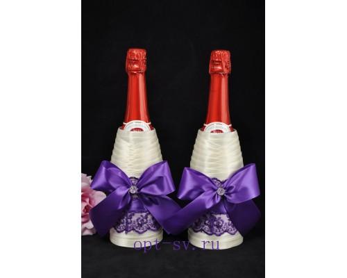 Украшение на свадебное шампанское К 27