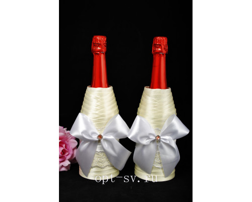 Украшение на свадебное шампанское К 30