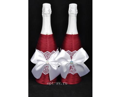 Украшение на свадебное шампанское К 42