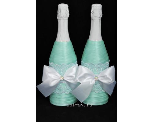 Украшение на свадебное шампанское К 43