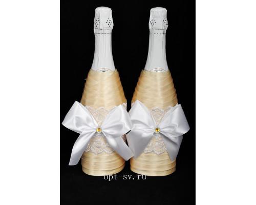 Украшение на свадебное шампанское К 44