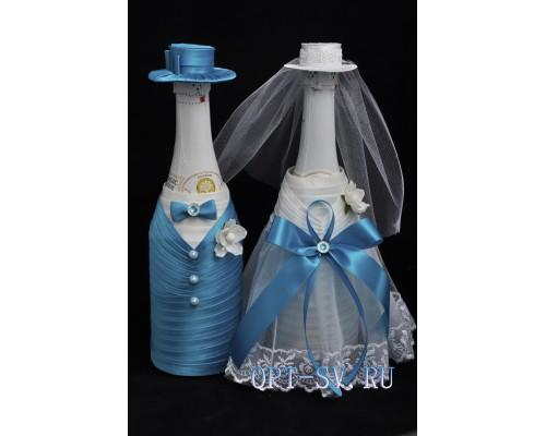Украшение на свадебное шампанское К 15
