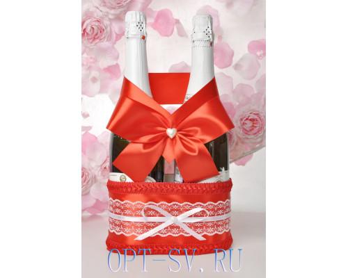 Корзинка для свадебного шампанского К 6