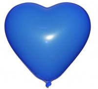 """Разноцветные сердца 12"""" синего цвета"""