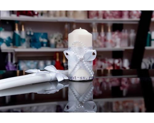 """Свадебные свечи белого цвета - """"Сердечко"""""""